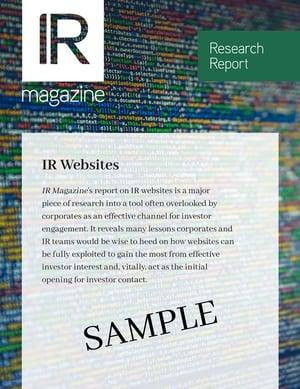 IR Websites research report